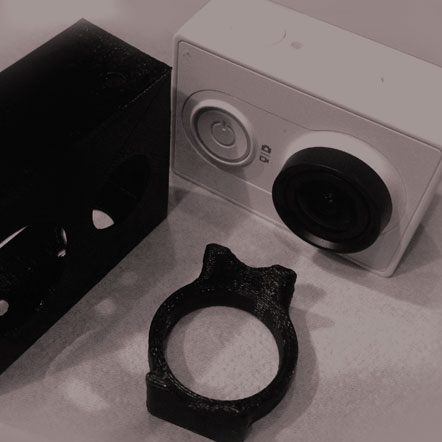پرینت سه بعدی قاب دوربین ورزشی شیائومی