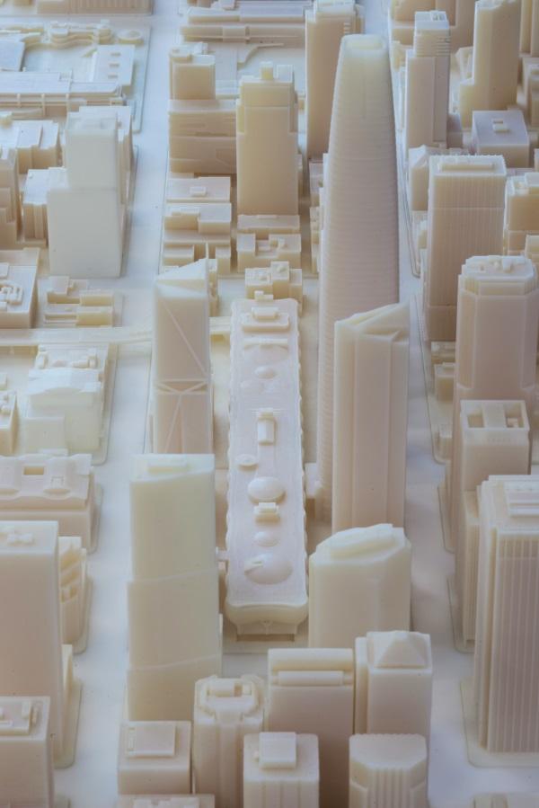 ساخت ماکت سان فرانسیسکو باپرینتر سه بعدی