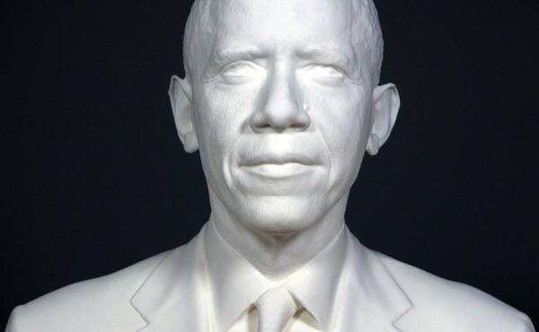 پرینت سه بعدی صورت اوباما