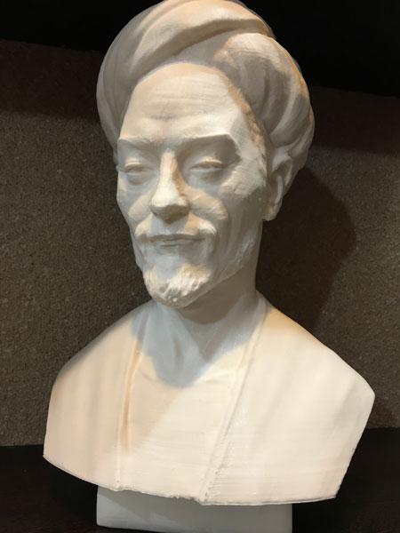 طراحی و پرینت سردیس سعدی با پرینتر سه بعدی