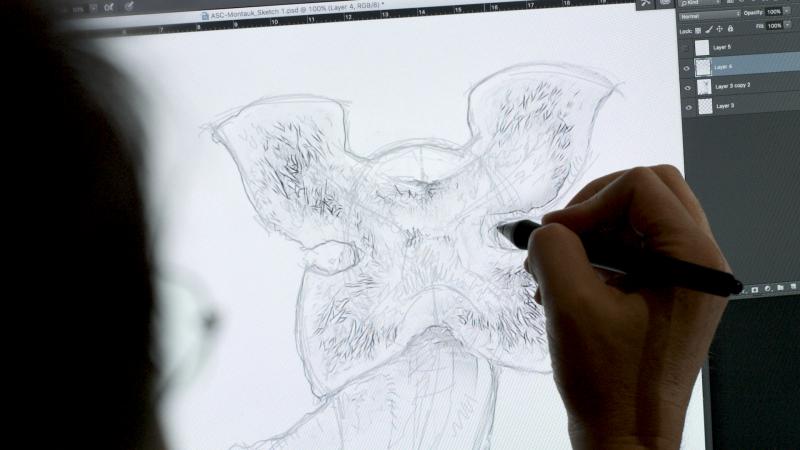 خلق هیولای سریال Stranger Things با پرینت سه بعدی SLA - 4