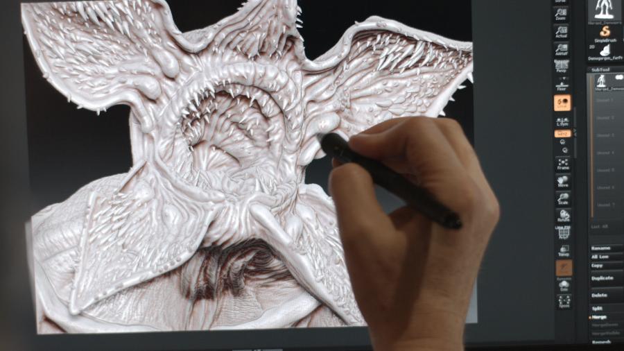 خلق هیولای سریال Stranger Things با پرینت سه بعدی SLA - 5