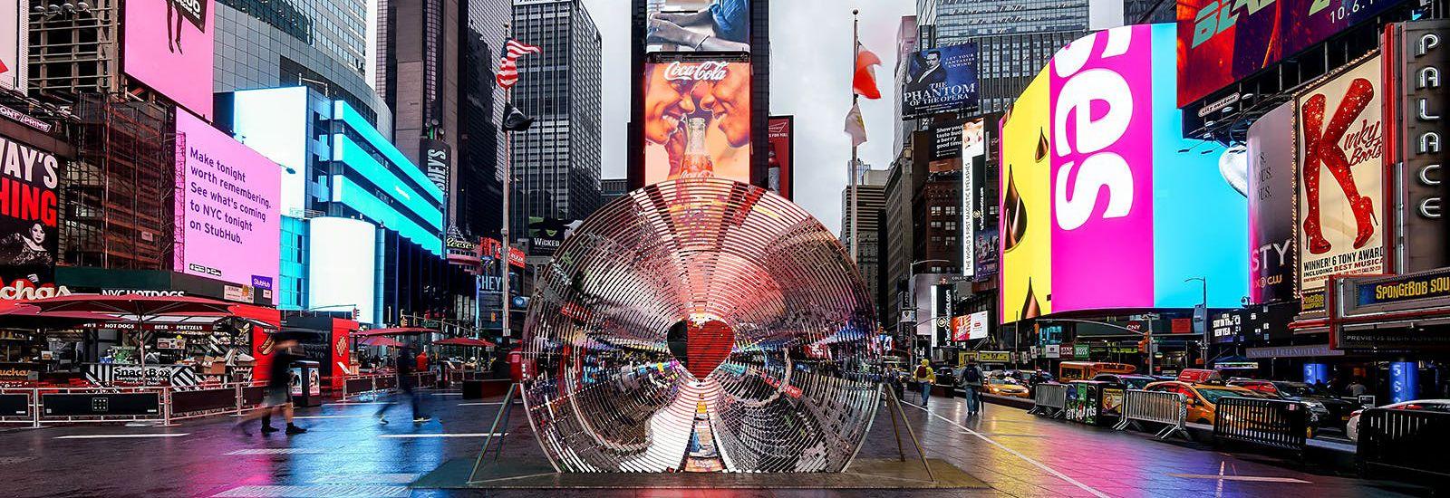 پرینت سه بعدی SLA طرح برگزیده روز ولنتاین 2018 در میدان تایمز نیویورک 1
