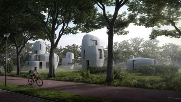 ساخت 5 خانه با پرینتر سه بعدی در ایندهوون هلند 1