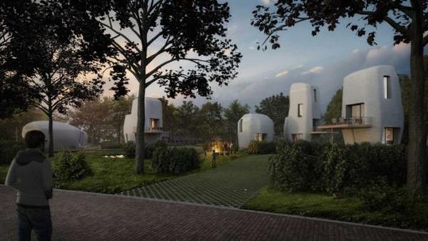 ساخت 5 خانه با پرینتر سه بعدی در ایندهوون هلند2